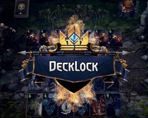 DeckLock logo in Gwent style